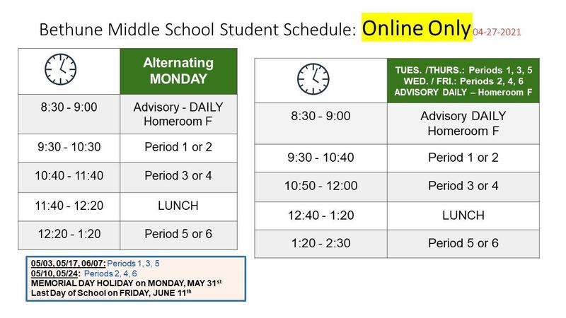 ONLINE ONLY SCHEDULE STARTS week of APRIL 27th Featured Photo