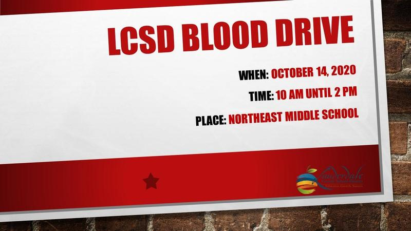 LCSD Blood Drive Graphic