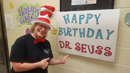 Celebrating Dr. Seuss's Birthday at Irving Elementary