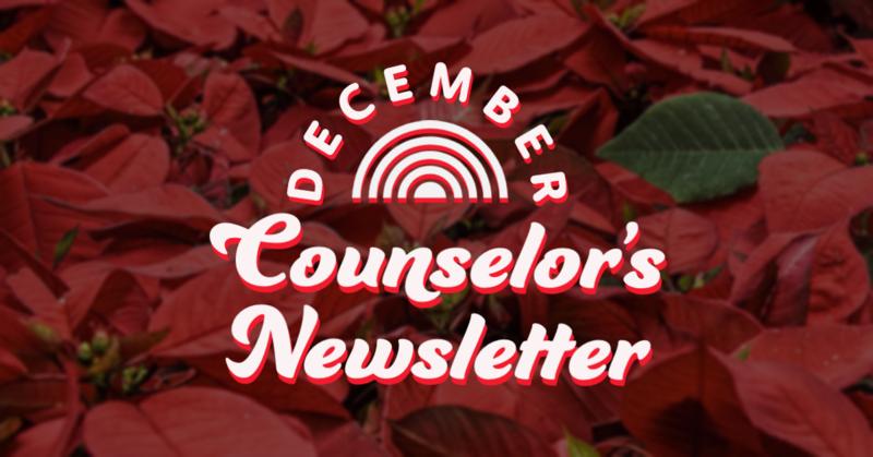 December Counselor's Newsletter
