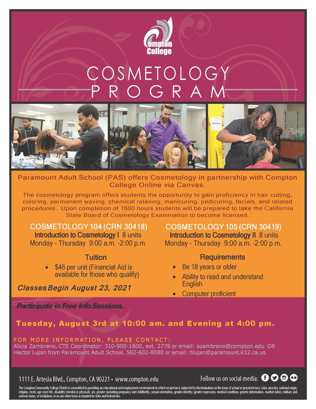 Cosmetology Orientation Begins August 3rd! Featured Photo