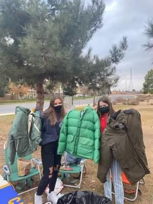 Centennial students collect coats for the Bakersfield Homeless Shelter
