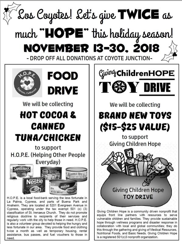 Food and Toy Drive