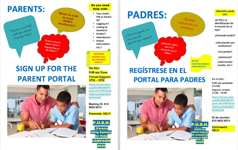 Parent Portal PUSH Campaign/Campaña PUSH del Portal para Padres Featured Photo