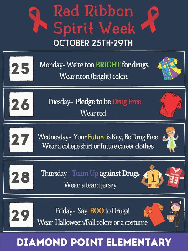 Red Ribbon Week Spirit Days