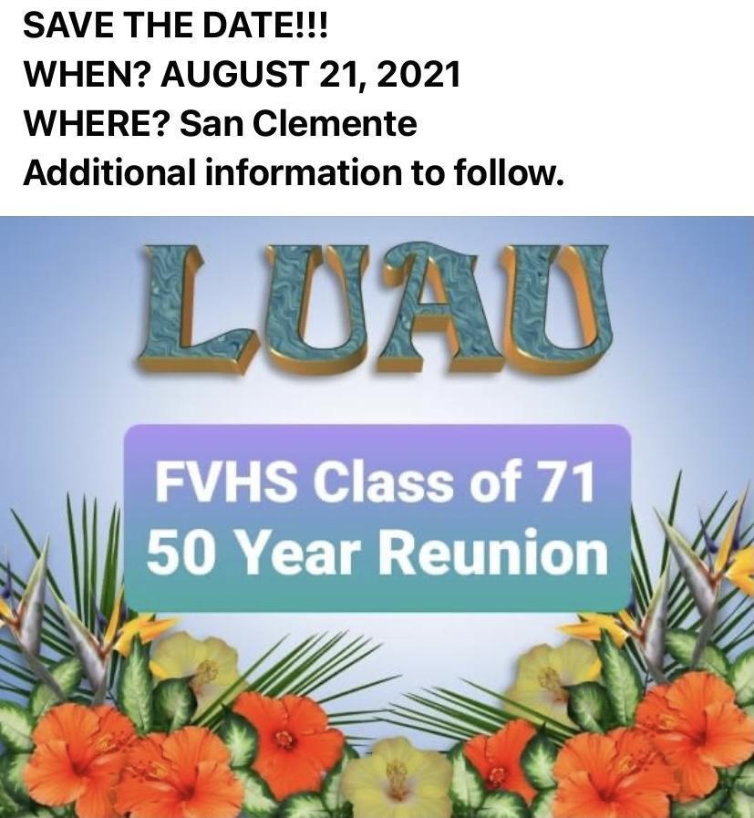 Class of 71 reunion