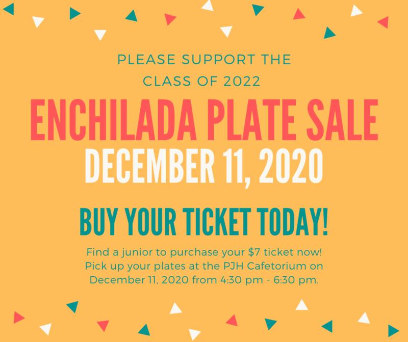 Junior Class Enchilada Plate Sale on Dec. 11, 2020 Thumbnail Image