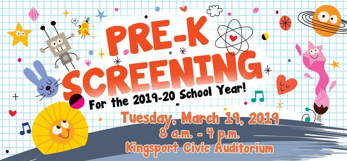 Pre-K Screening graphic