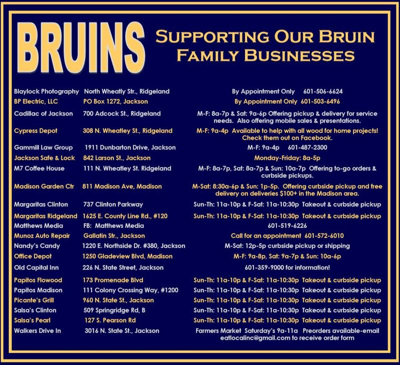 Bruins: Supporting our Bruin Family Businesses