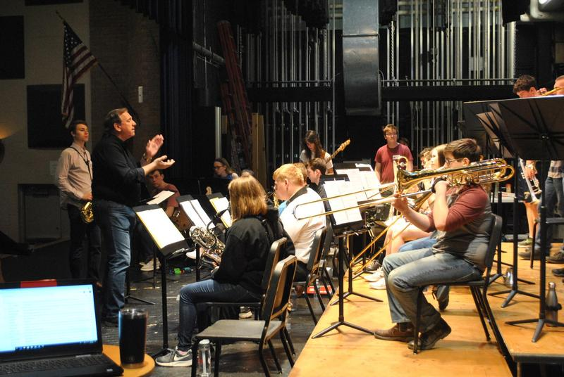 Jazz Band working with clinician