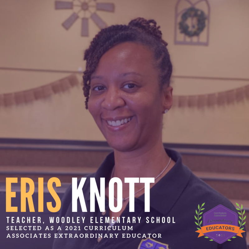 Eris Knott selected as 2021 Curriculum Associate Extraordinary Educator Featured Photo