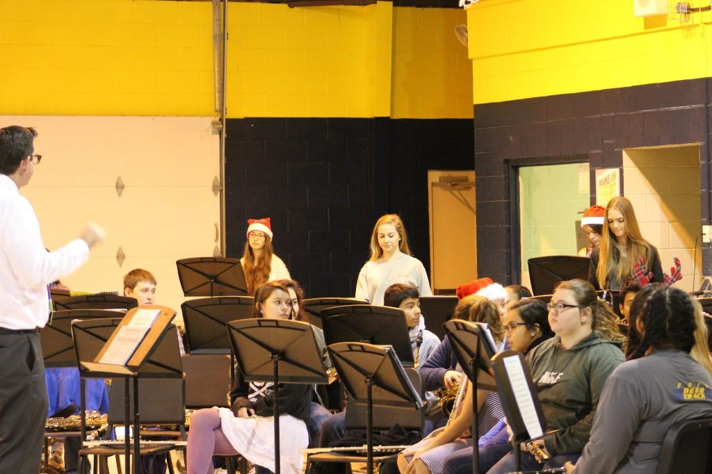CHS Band performing Christmas Music for CES