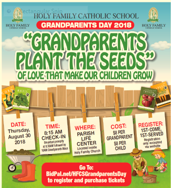 Grandparent's Day is Thursday, August 30, 2018 at HFCS! Featured Photo