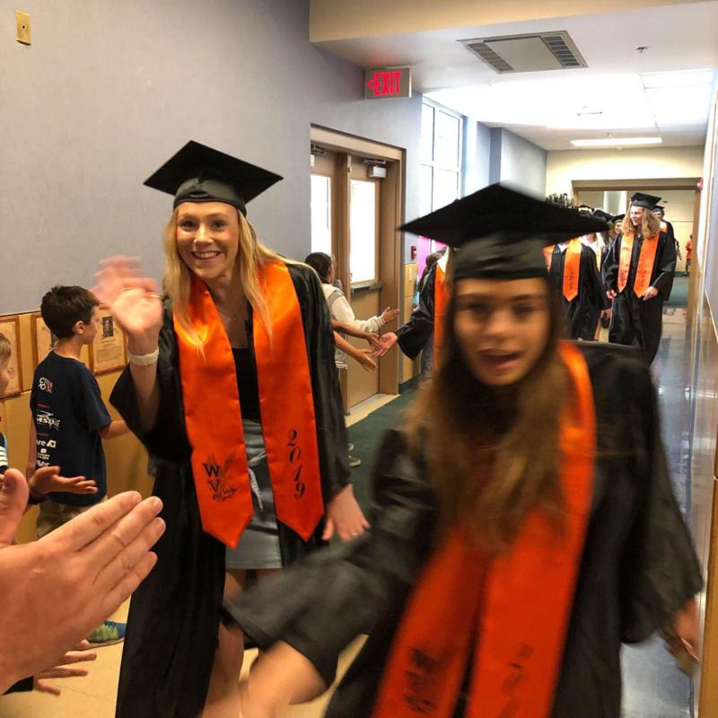 WV students walk through elementary