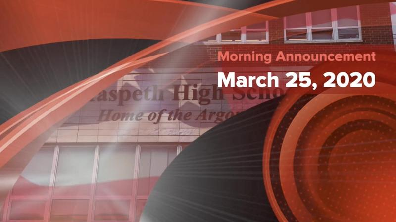 Maspeth High School Remote Learning Morning Announcement Featured Photo