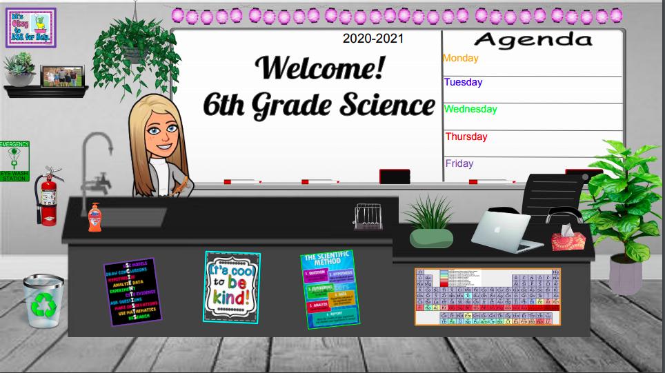 Bitmoji Science Classroom