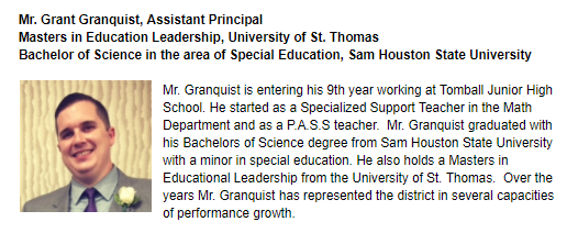 Mr. Granquist photo and bio