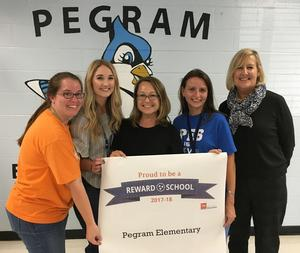 Pegram Elementary School was named a Reward School.
