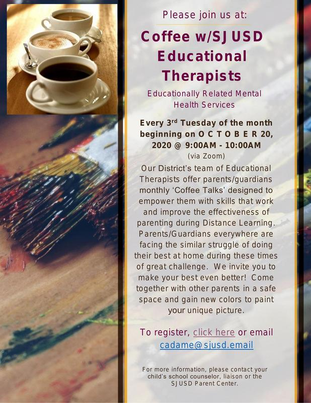 Coffee w/SJUSD Educational Therapists