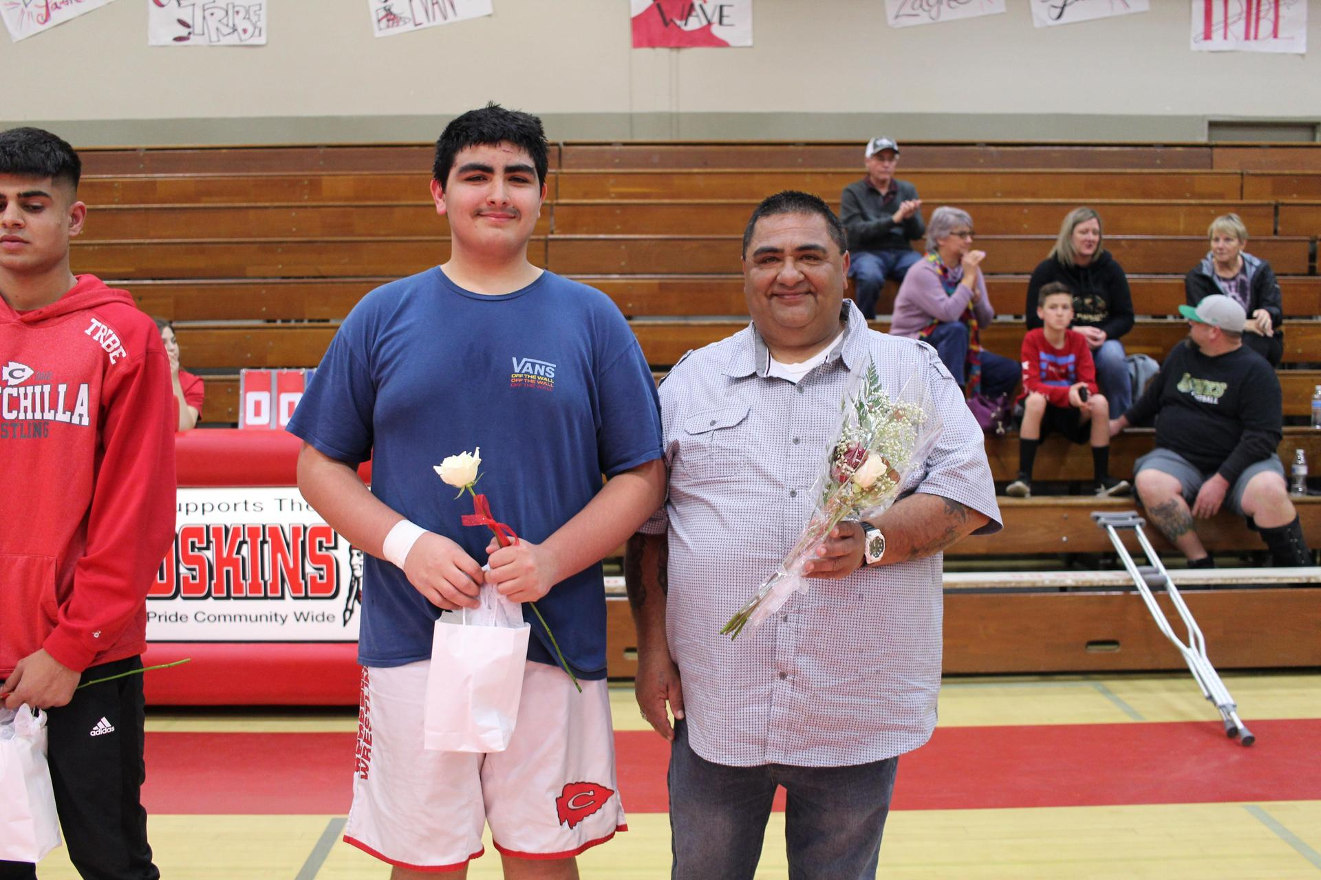 Wrestlers with their Family