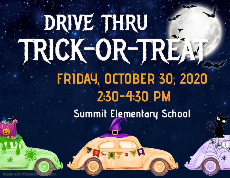 Summit Elementary Drive Thru Trick-Or-Treat 2020