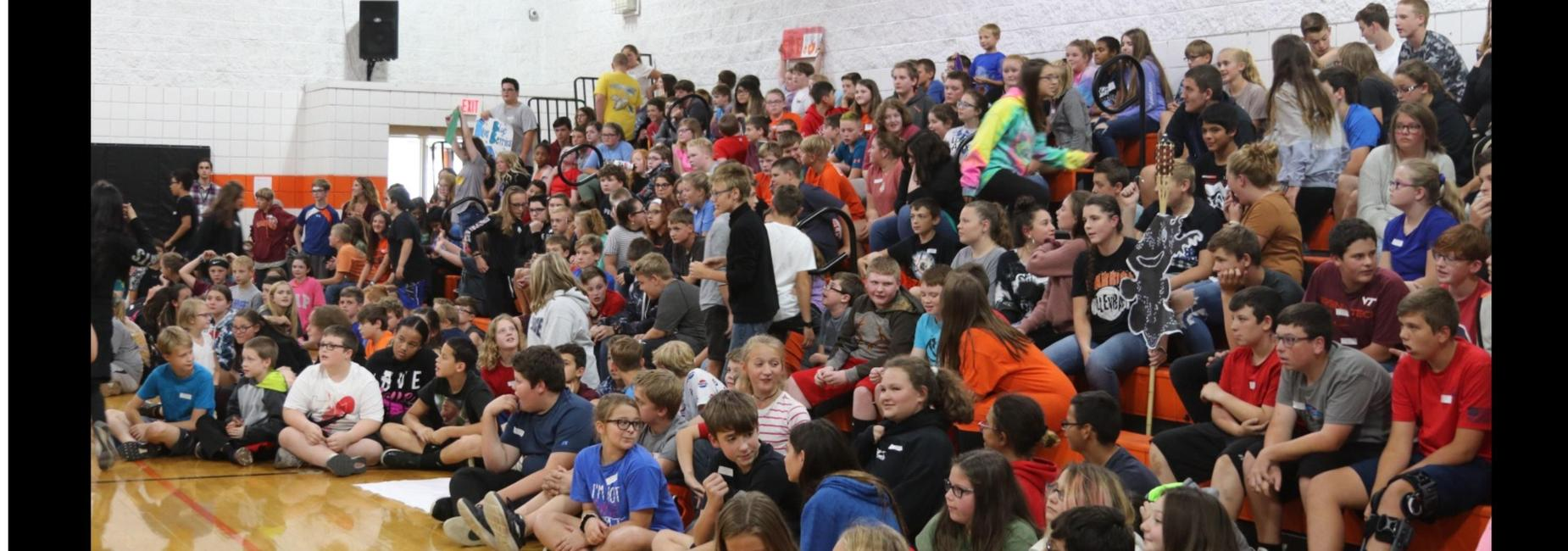 CMS students at an assembly