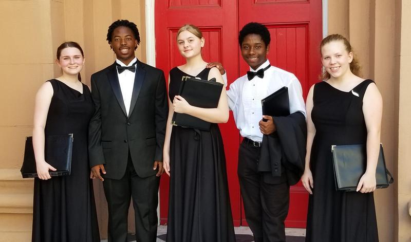 Honors choir members from BCHS
