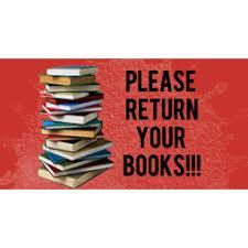 Please return your books.