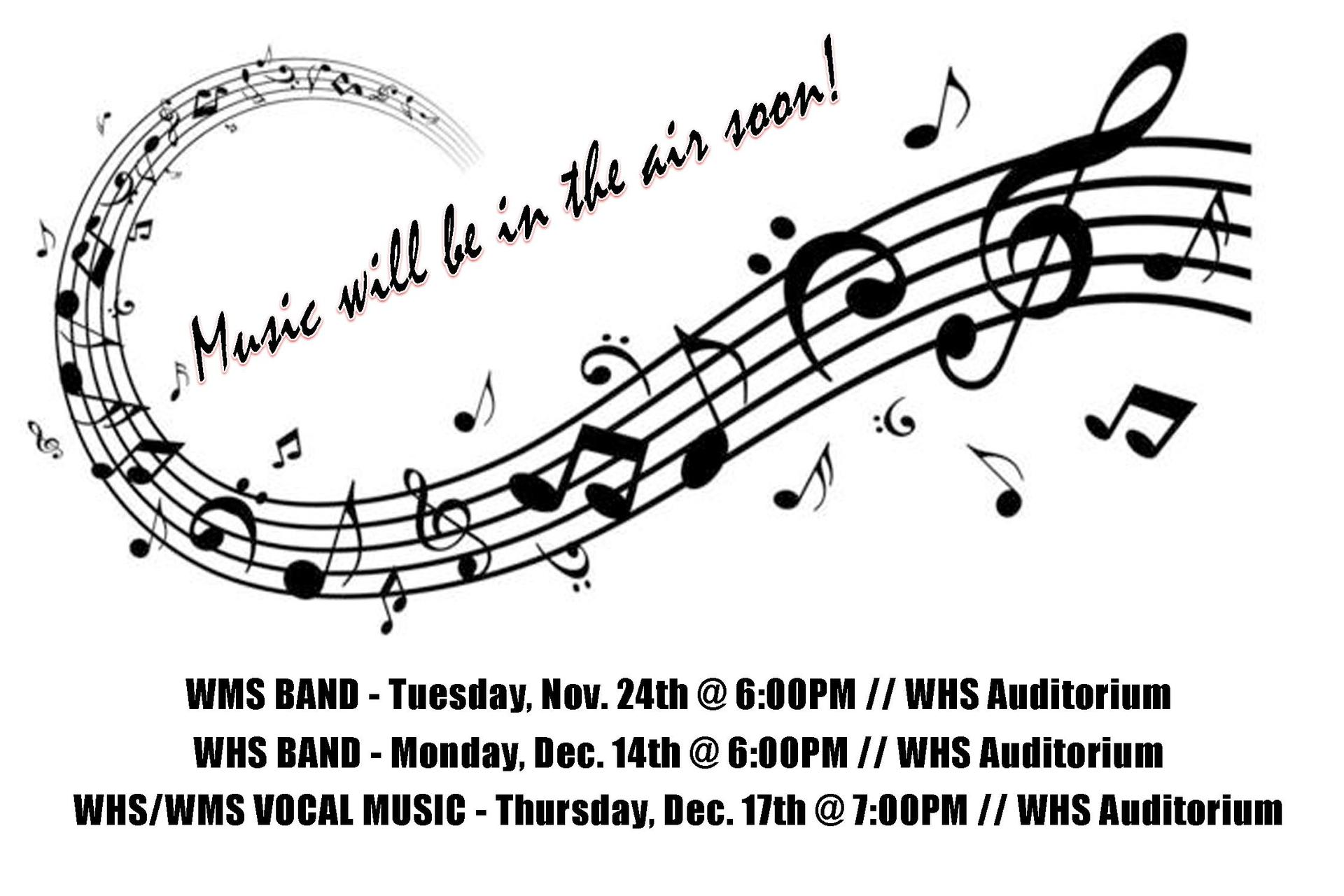Upcoming Music Concerts @ WHS