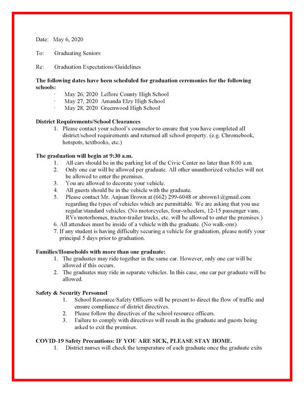 GLCSD Graduation Procedures 2020 Featured Photo