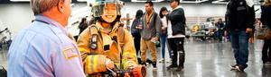 girl in firefighter outfit