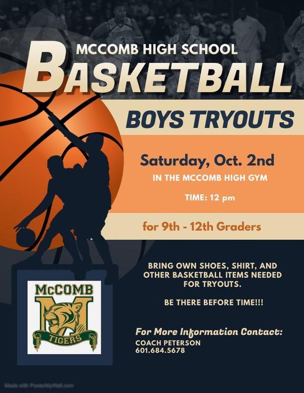 McComb High School Boys Basketball Tryout News 2021