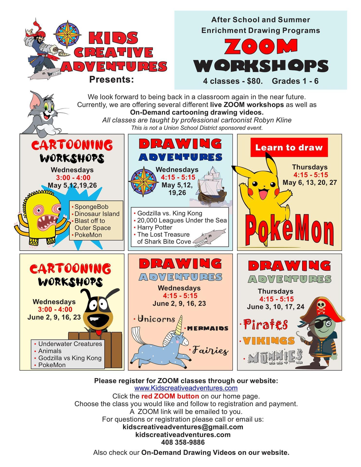 Kids Creative Adventures After School & Summer