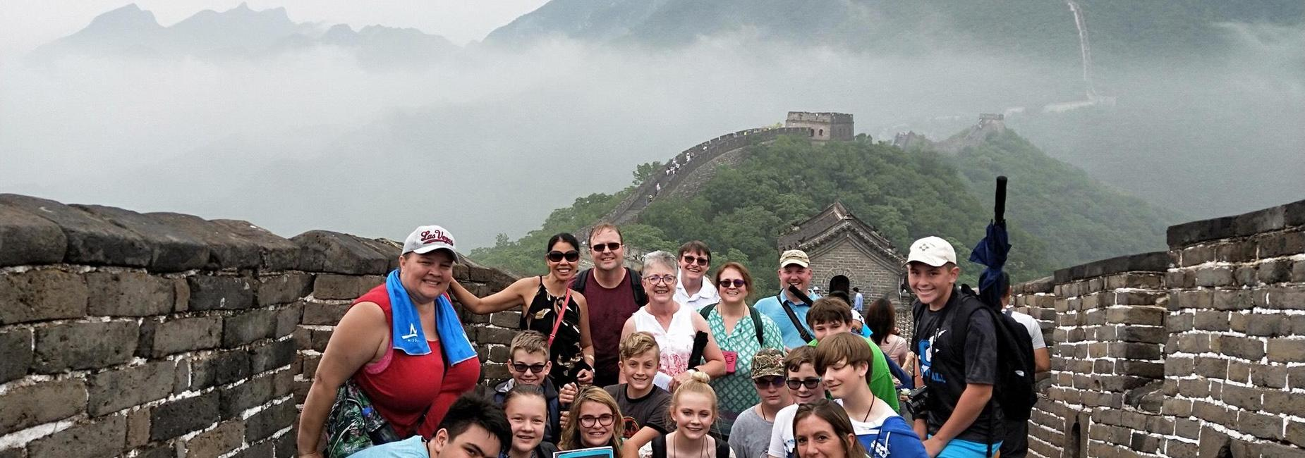 Families on The Great Wall of China