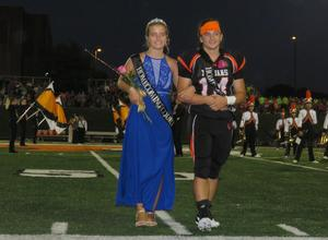 Senior class representatives in the homecoming court.