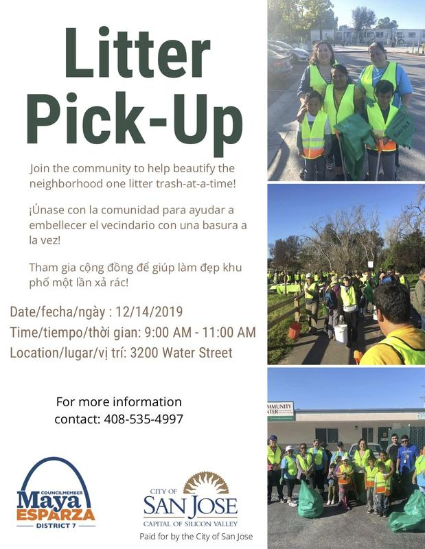 Neighborhood Litter Pick-up Flyer