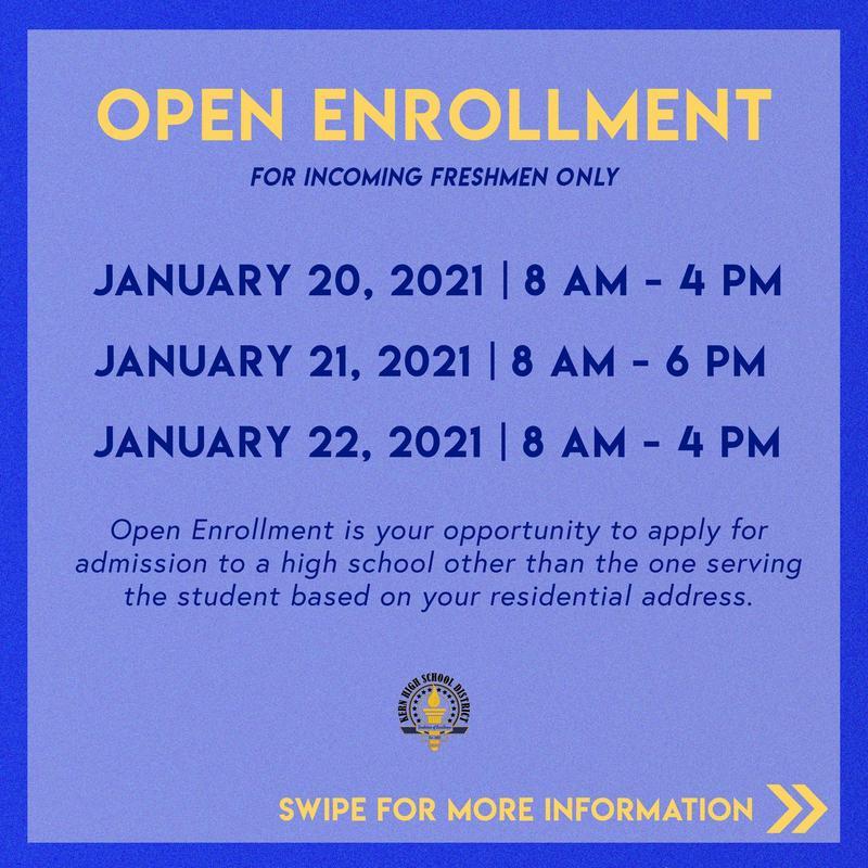 Open Enrollment for Incoming Freshmen Thumbnail Image