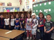 k graders wearing comic con tee shirts