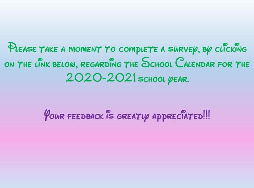 School calendar survey