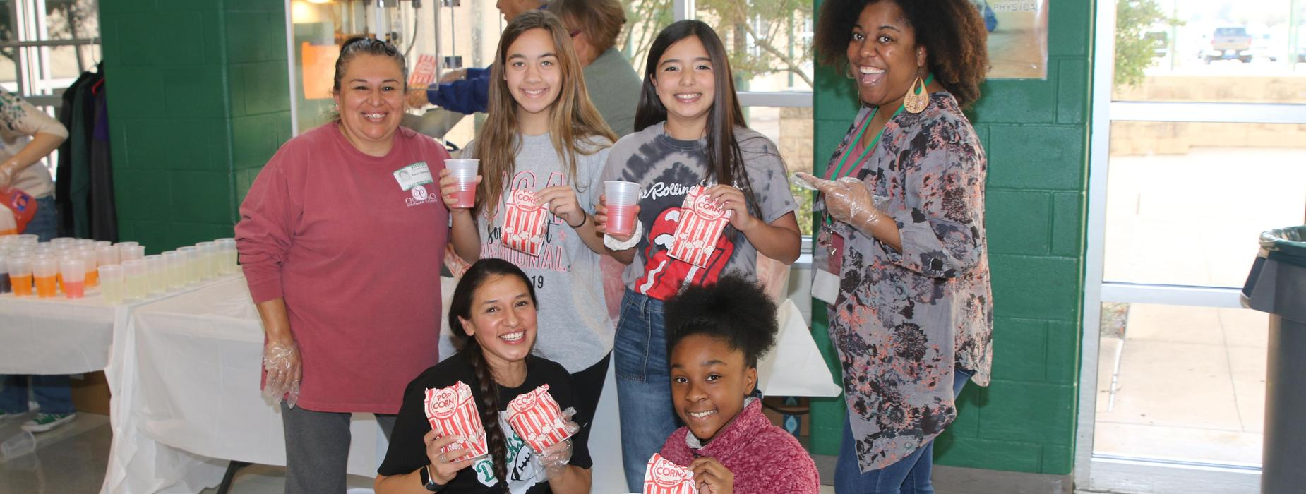 Popcorn party at middle school