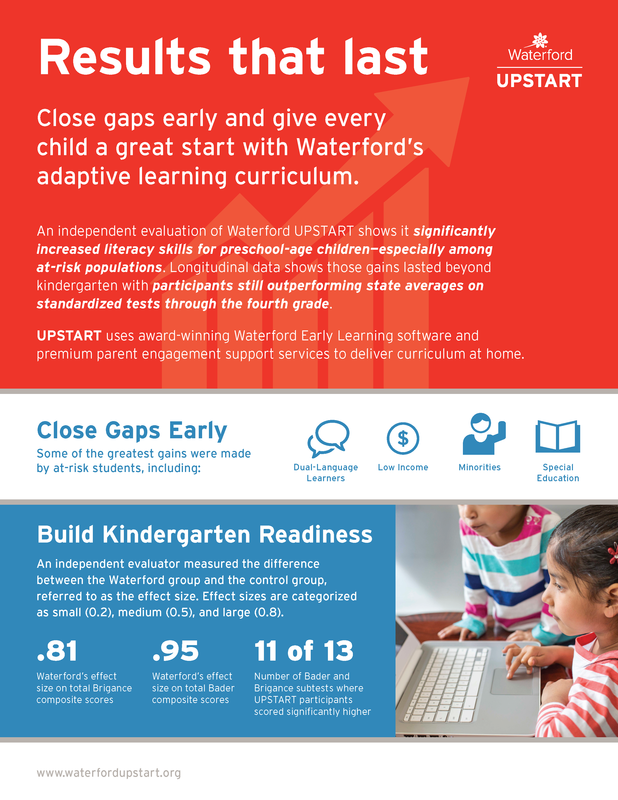 UPSTART information flyer - Free preschool program offered by the state of Utah