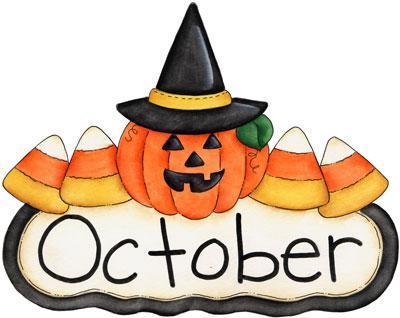 October pumpkin and candy corn