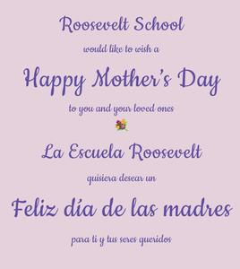 Happy Mother's Day from Roosevelt School
