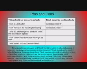 Pros and cons slide