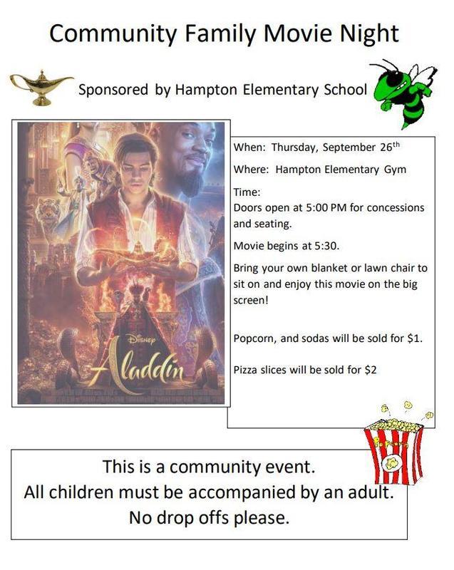 Movie Night Featuring Disney's Aladdin