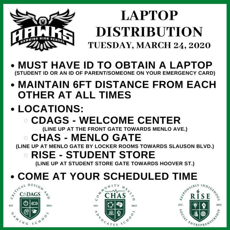 Laptop Distribution on Tuesday, March 24th Featured Photo