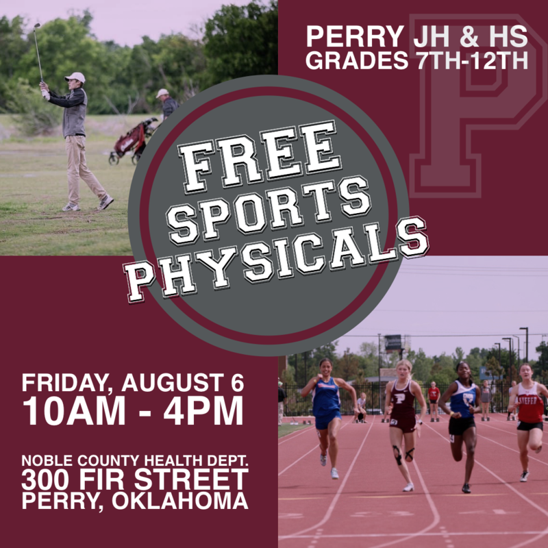free sports physicals, august 6th from 10am-4pm