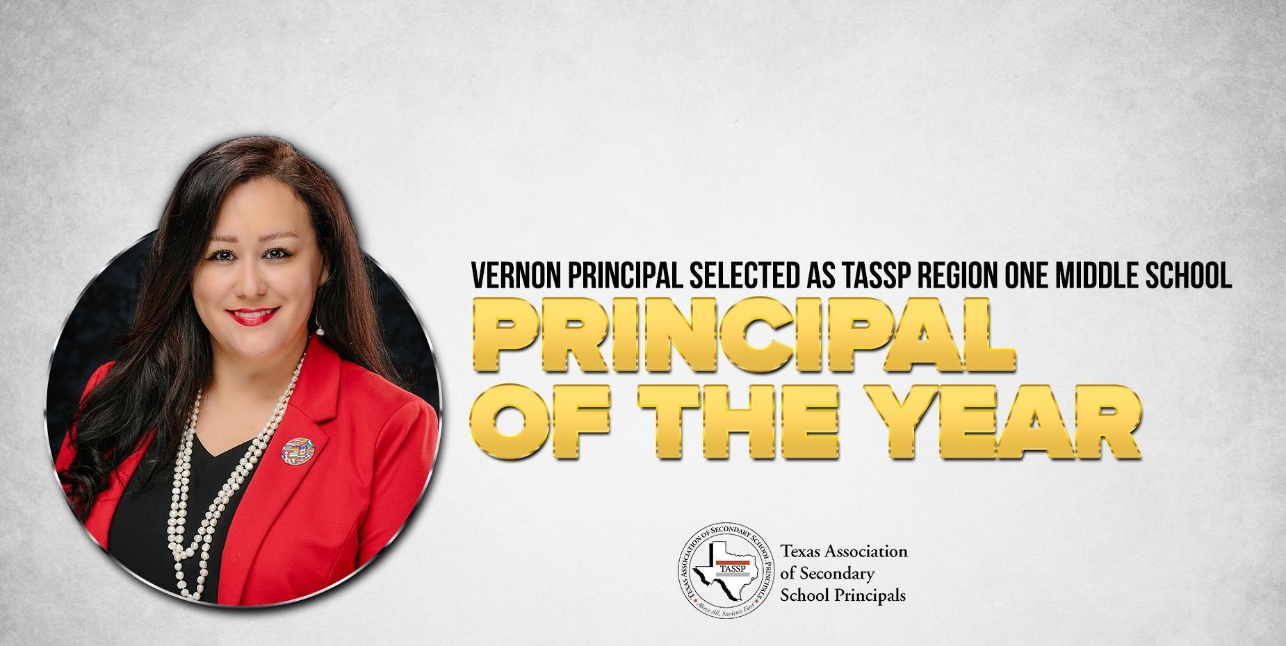 image shows principal of the year Arely Tamez.
