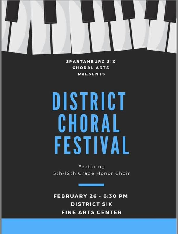 District Choral Festival poster