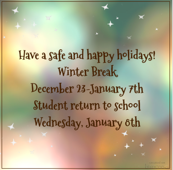 Have a Safe and Happy Winter Break